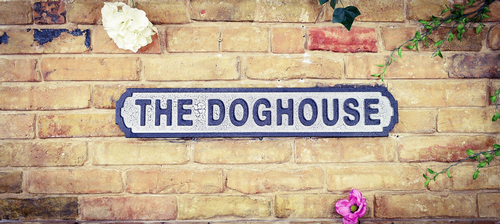 The Doghouse Vintage Road Sign / Street Sign